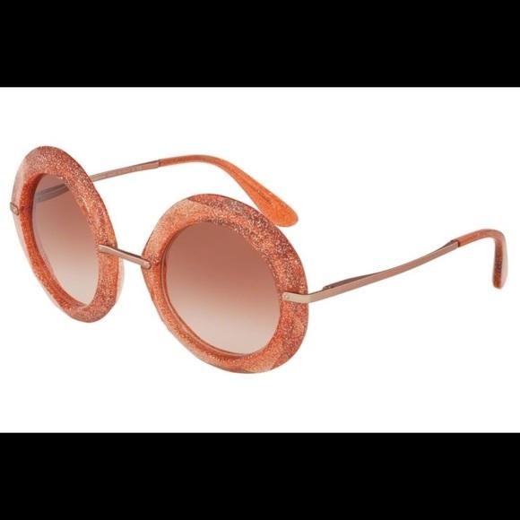 6132bee66c0 Dolce   Gabbana Accessories - Dolce   Gabbana 6105 Pink Glitter Sunglasses
